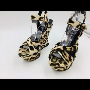 "Alice + Olivia Shoes - Alice and Olivier Fabulous Leopard 5""Platforms sz7"